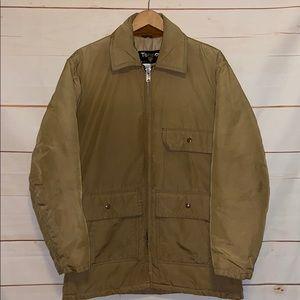 TEMPCO Goose Down Jacket Full Zip Up Coat Brown M